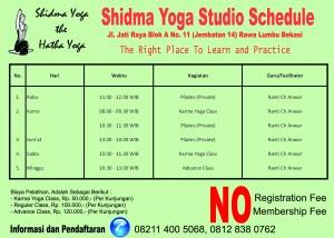 Shidma Yoga Schedule - 9